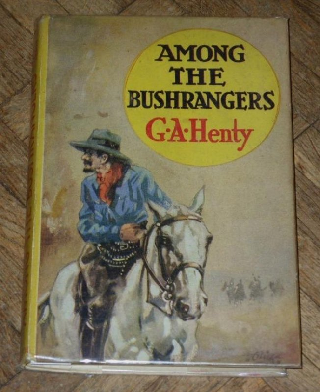 "Image for Among the Bushrangers. From ""A Final Reckoning"". The Summit Library (on back cover, in red)."