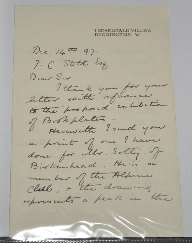 Image for ORIGINAL LETTER from L. Leslie Brooke to Mr. Stitt.