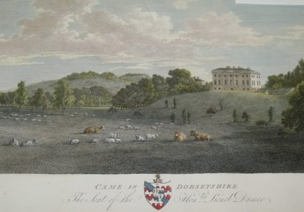 "Image for Attractive original copper-engraved view of CAME in DORSETSHIRE.  The Seat of the Hon. Lionel Damer. Dorset. From: HUTCHINS' ""History of Dorset"". 2nd. edition"