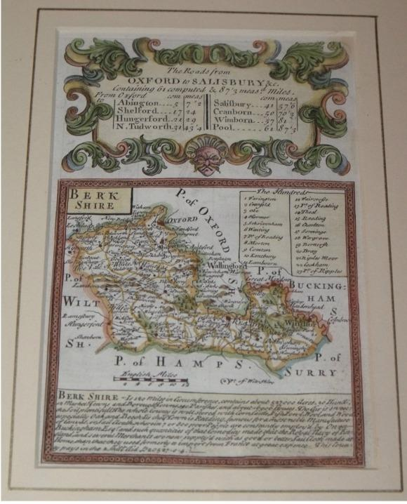 "Image for Attractive miniature Antique county map:  BERKSHIRE.  From: BRITANNIA DEPICTA. or ""Ogilby Improv'd""."