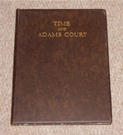 Image for Time and Adams Court, an Attempt at Reconstruction. Signed limited edition
