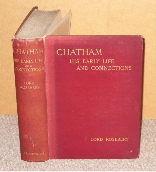 Image for Chatham. His Early Life and Connections.