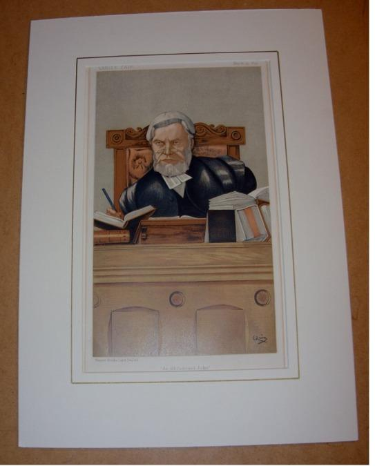 "Image for ORIGINAL LITHOGRAPH by QUIZ: THE RT. HON. SIR H.C LOPES.  ""An Old Fashioned Judge"". 25/3/1893. (Legal)"