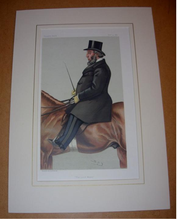 "Image for ORIGINAL LITHOGRAPH by SPY: SIR JOHN WHITAKER ELLIS BART. LORD MAYOR OF LONDON. ""The Lord Mayor"". 4/11/1882. (Politicians)"