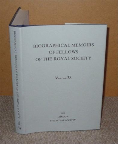 Image for Biographical Memoirs of Fellows of the Royal Society 1992, Vol. 38.