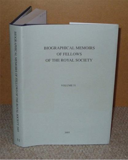 Image for Biographical Memoirs of Fellows of the Royal Society 2005, Vol. 51.