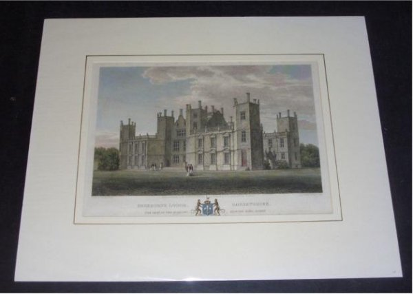 "Image for Attractive original engraved view of  SHERBORNE LODGE, DORSETSHIRE. The Seat of The Rt. Hon. Edward Earl Digby. From: HUTCHINS' ""History of Dorset"". 2nd. edition.  Drawn by J. Buckler and engraved by George Cooke."
