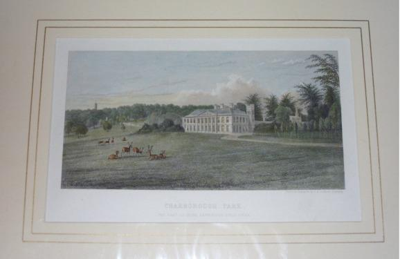 "Image for Attractive original engraved view of CHARBOROUGH PARK, DORSETSHIRE. The Seat of Miss Sawbridge Erle Drax. From: HUTCHINS' ""History of Dorset""."