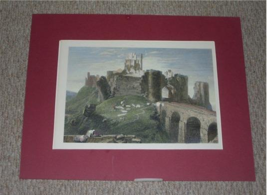 Image for Attractive original engraving of Corfe Castle, DORSETSHIRE.
