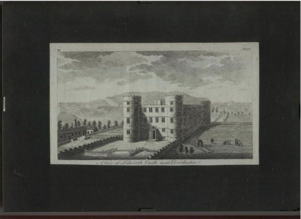 Image for Attractive original engraved A VIEW OF LULWORTH CASTLE, near Dorchester, DORSETSHIRE.