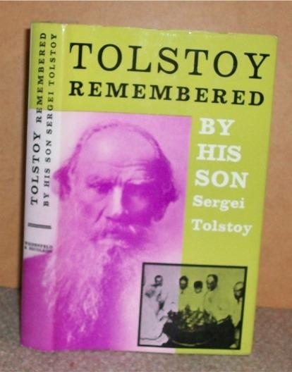 Image for Tolstoy Remembered. By His Son.