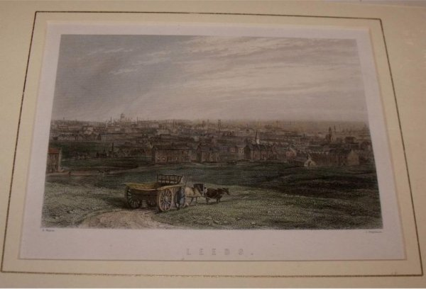 Image for Attractive original steel engraving of Leeds. Engraved by J.Stephenson.