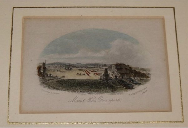 Image for Attractive original steel engraving of Devonport. Mount Wise.
