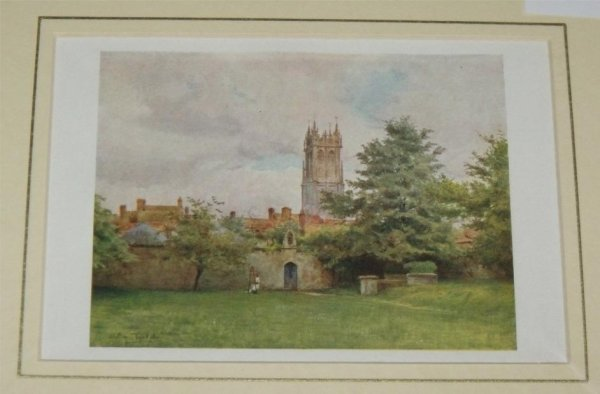 Image for Glastonbury Steeple from the Abbey Gardens. From the book, Wessex.