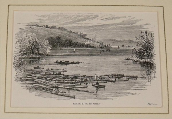 Image for River Life in Ohio. From Illustrated London News.