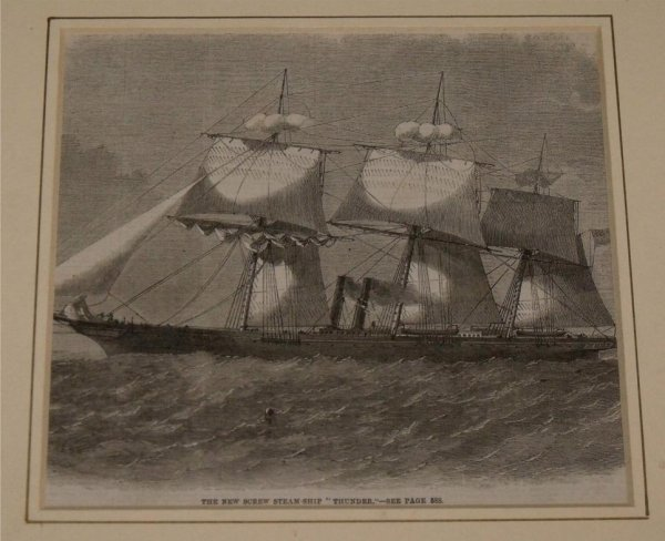 "Image for The New Screw Steamship ""Thunder"". From Illustrated London News."