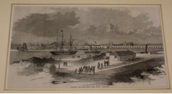 Image for Opening of the Bute East Dock, Cardiff. From Illustrated London News.