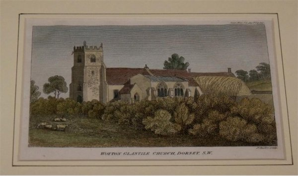 Image for Attractive colour print of 'Wotton Glanvile Church, Dorset'.