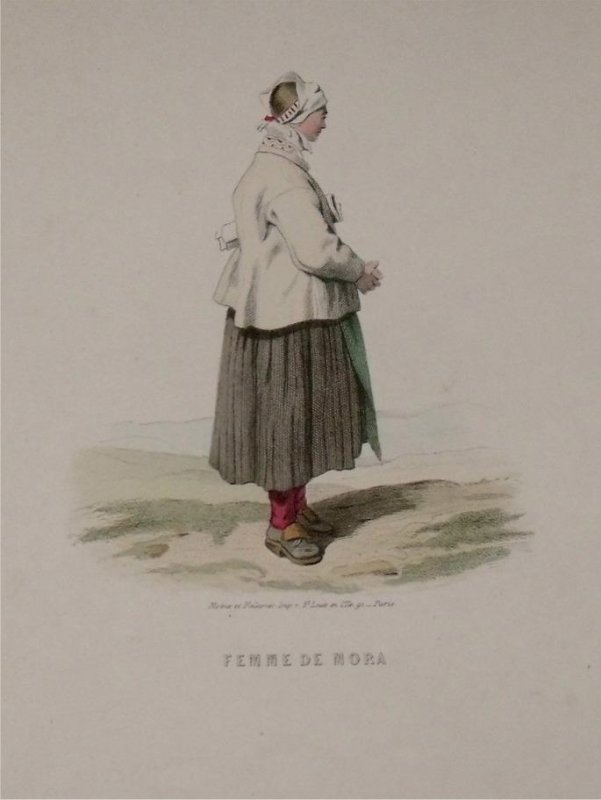 Image for Attractive original engraving of Femme de Mora. Woman from Mora.