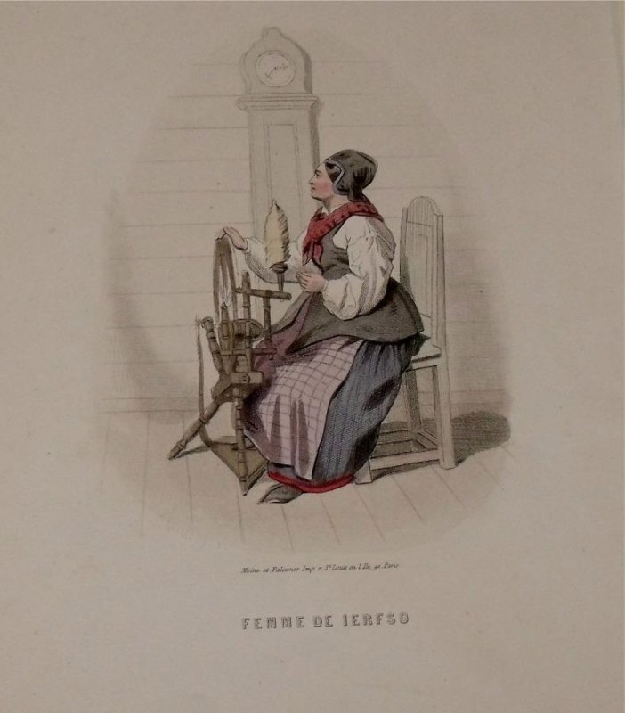 Image for Attractive original engraving of Femme de Ierfso. Woman from Jerfso.