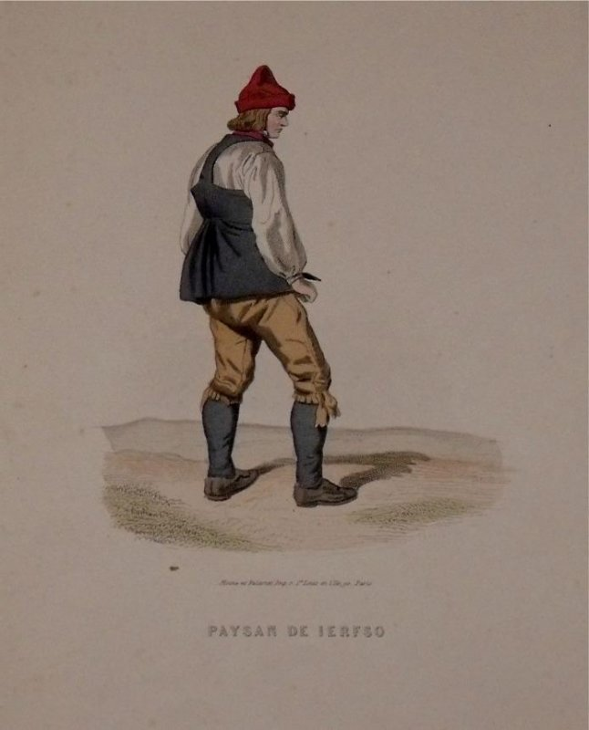 Image for Attractive original engraving of Paysan de Ierfso. Peasant from Jerfso.