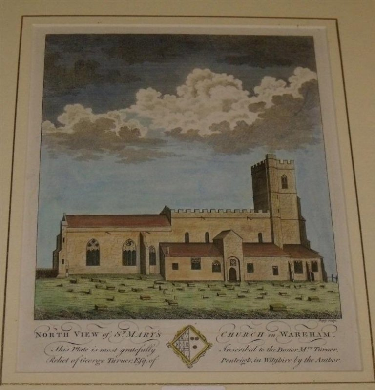 Image for North View of St Mary's Church in Wareham. Dorset. This plate is most gratefully Inscribed to the Donor Mrs Turner, Relict of George Turner,Esq. of Penleigh in Wiltshire by the Author.