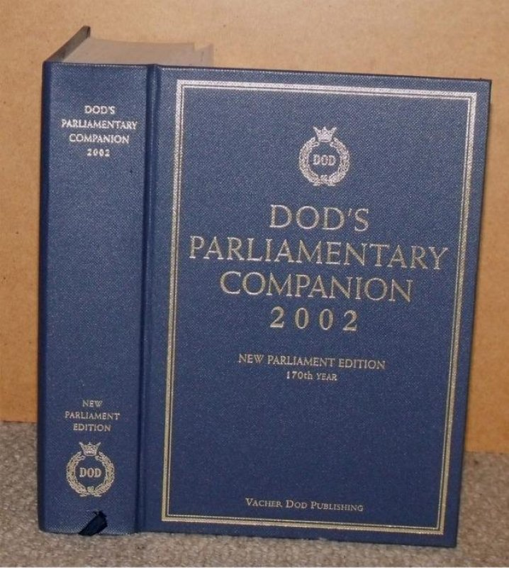 Image for Dod's Parliamentary Companion 2002. 170th Year.