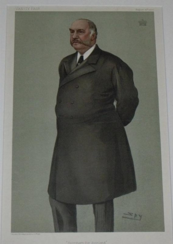 "Image for ""Secretary for Scotland'"" Vanity Fair. August 14. 1902."
