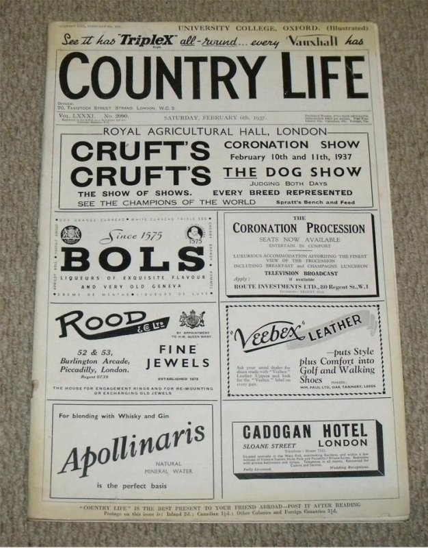 Image for Country Life. February 6th 1937.