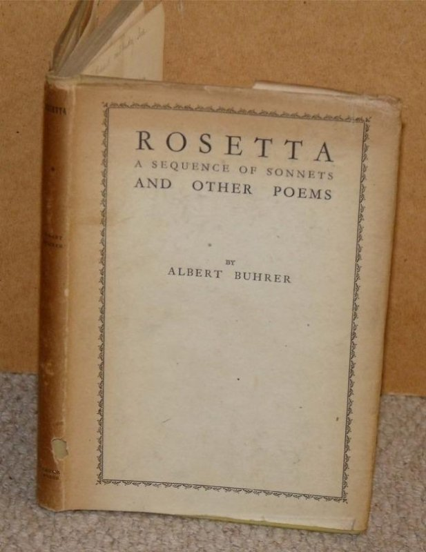Image for Rosetta A Sequence of Sonnets and Other Poems. Signed dedicated copy.