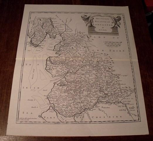 Image for Map of Lancaster. The County Palatine of Lancaster.