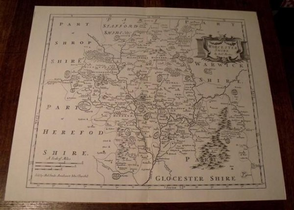 Image for Map of Worcestershire.