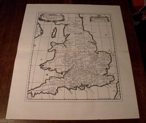 Image for Map of Britannia. Saxonica. England.