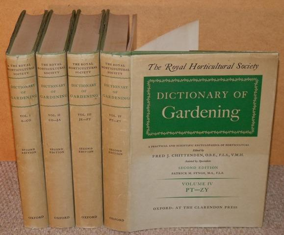 Image for Dictionary of Gardening. The Royal Horticultural Society. A Practical & scientific Encyclopaedia of Horticulture. Ed.by F.J.Chittenden. Second edition by P.M.Synge: