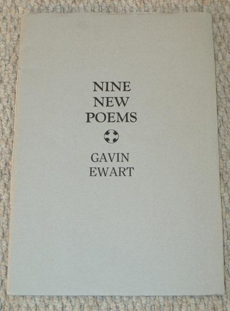 Image for Nine New Poems. Signed limited edition.