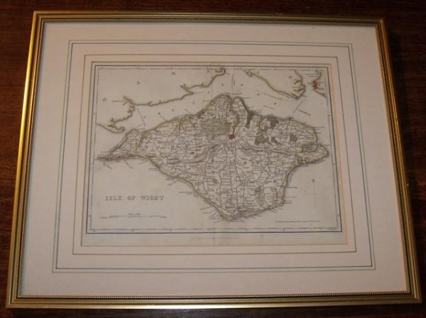 Image for Original engraved map of the Isle of Wight.