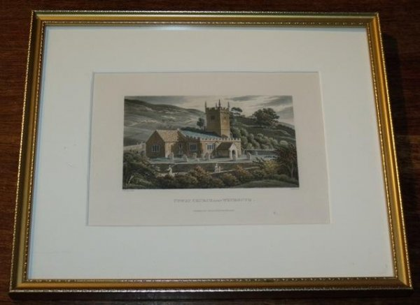 Image for Upway (sic) Church near Weymouth. Aquatint.