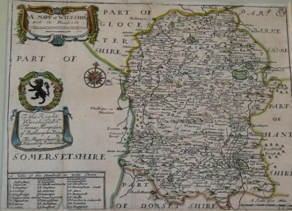 Image for A Mapp of Wiltshire with its Hundreds.