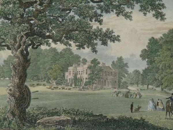 Image for Uddens House. Dorset. the Seat of Colonel Greathed. to whom this plate is respectfully dedicated.