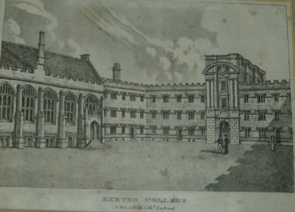 Image for Exeter College. N.Whittock. Lithg. Oxford.