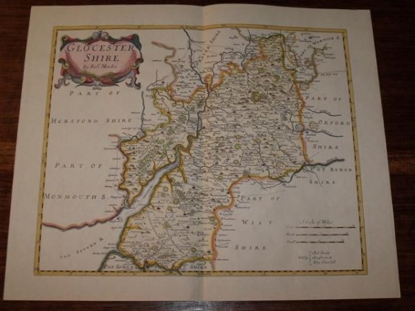 Image for Map of Glocestershire.