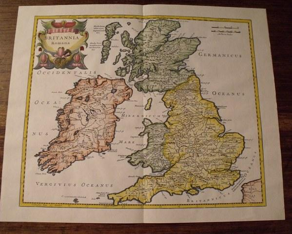 Image for Map of Britannia. Romana. England.