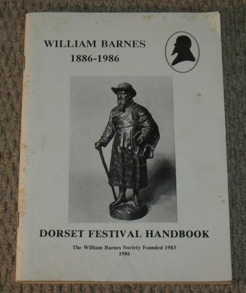 Image for William Barnes 1886-1986. Dorset Festival Handbook. Limited edition.