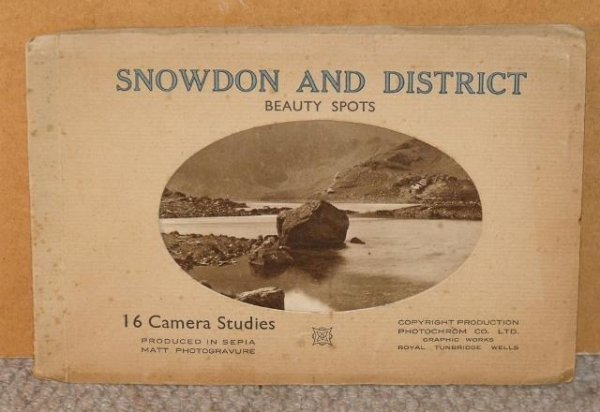 Image for Snowdon and District Beauty Spots. 16 Camera Studies produced in Sepia Matt Photogravure.