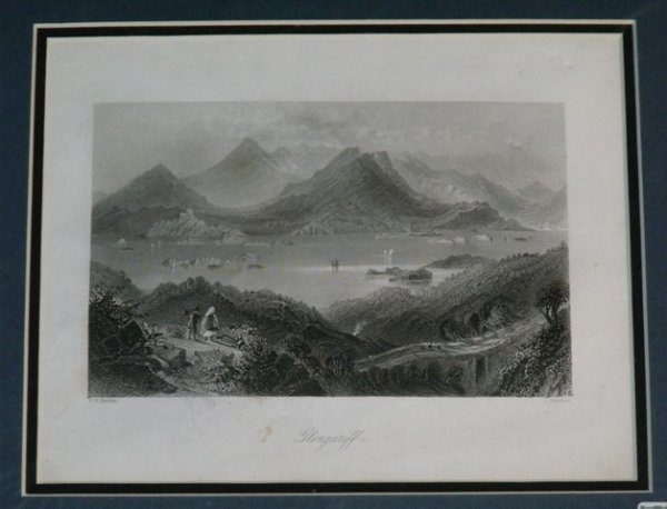 Image for Glengariff. Original engraving of Glengariff in Co.Cork, Ireland.