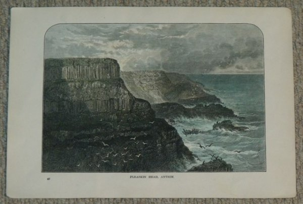 Image for Pleaskin Head, Antrim. (Pliskin Head). Original engraving with later hand colouring.