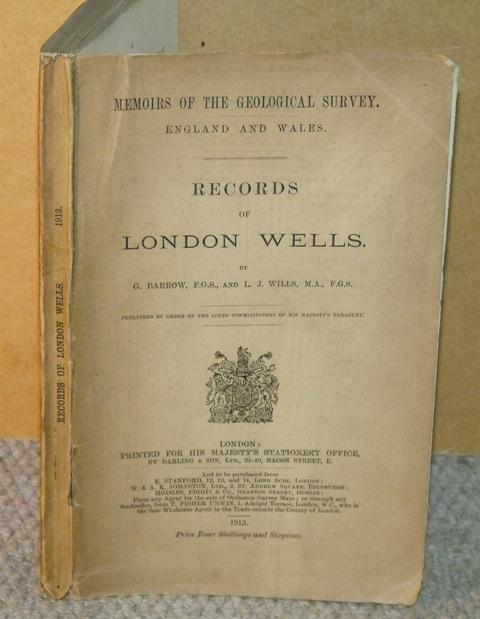 Image for Records of London Wells. Memoirs of the Geological Survey. England and Wales.