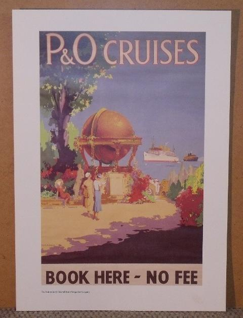 Image for P & O Cruises BOOK HERE - No Fee Poster From Moments from the P & O Poster Collection sir Jeffrey Sterling.