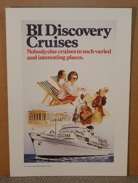 Image for BI Discovery Cruises. Nobody else cruises to such varied & interesting places. From Moments from the P & O Poster Collection sir Jeffrey Sterling.