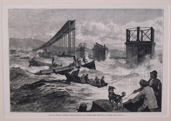 Image for The Tay Bridge Disaster: Steam Launches and Divers' Barge Employed In Search.